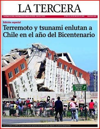 LA tercera terremoto y tsunami enlutan a Chile en el Bicentenario